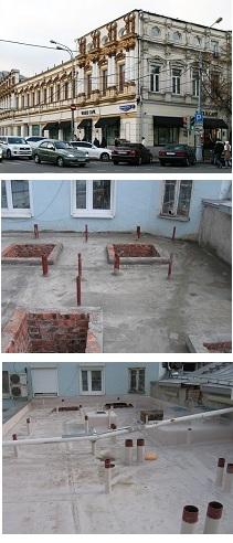 Reconstruction and restoration of the building waterproofing and roofing in the historical building on the street Petrovka